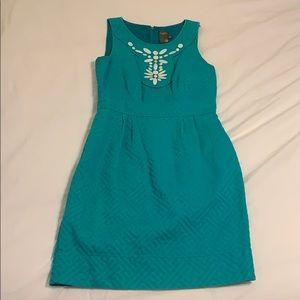 Beaded teal dress
